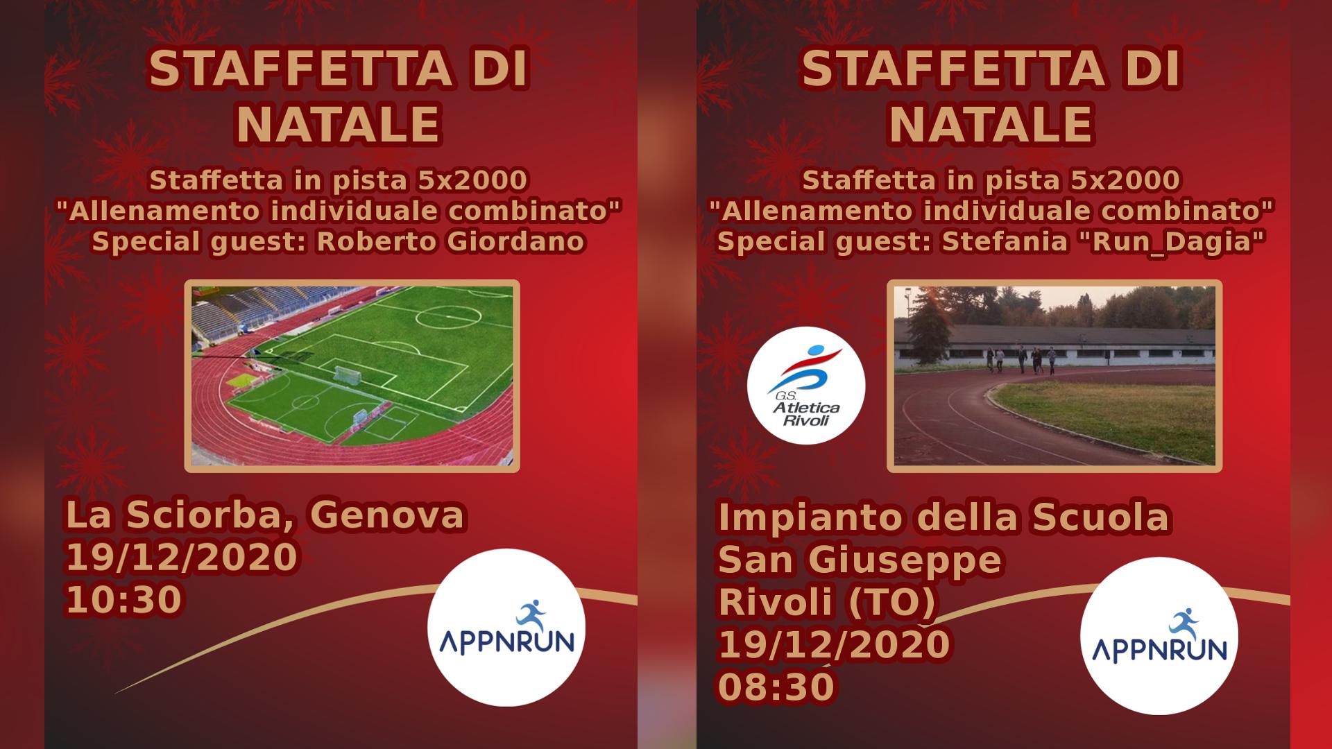 In arrivo la Staffetta di Natale di AppNRun: una mattina di sport tra Genova e Rivoli